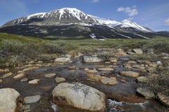 De Berg van Akka in Nationaal Park Sarek Royalty-vrije Stock Fotografie