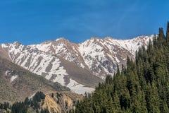 De berg van Alma Ata Stock Afbeelding