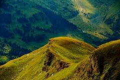 De berg van alpen De mening van de zomer oostenrijk Tirol Royalty-vrije Stock Afbeeldingen