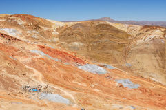 De berg van Amerika - van Bolivië, Potosi, Cerro Rico royalty-vrije stock foto