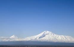De berg van Aragats Stock Foto's