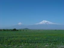 De berg van Ararat. Stock Foto