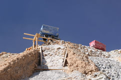 De berg van Bolivië, Potosi, Cerro Rico stock foto