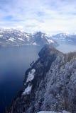 De berg van Burgenstock stock afbeeldingen