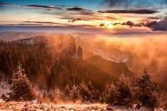 De Berg van Ceahlau, Roemenië Royalty-vrije Stock Foto's