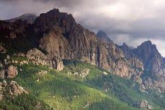 De berg van Corsica Stock Afbeeldingen