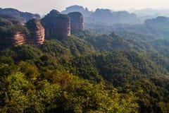 De berg van Danxia Stock Afbeeldingen
