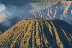 De berg van de Batokvulkaan in een ochtend, Bromo-berg, Oost-Java, Royalty-vrije Stock Fotografie