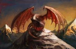 De berg van de draak Stock Afbeelding