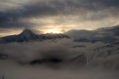 De berg van de Gonggasneeuw Stock Fotografie