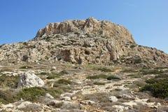 De berg van de lijst, Kaap Greko, Cyprus Stock Foto's