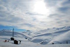 De Berg van de sneeuw Royalty-vrije Stock Afbeelding