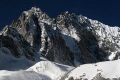 De berg van de sneeuw Stock Foto's