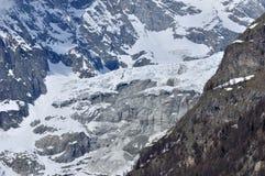 De berg van de sneeuw in Chamomix Royalty-vrije Stock Afbeelding