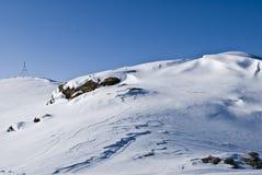 De berg van de sneeuw. Het panorama van de winter Royalty-vrije Stock Afbeelding