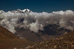 De berg van de sneeuw in Nepal Stock Foto