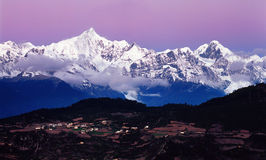 De Berg van de Sneeuw van Meili, Royalty-vrije Stock Foto's