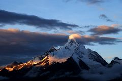 De Berg van de Sneeuw van Meili Royalty-vrije Stock Afbeelding