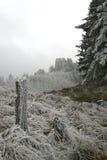 De berg van de winter Stock Afbeeldingen