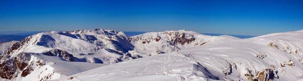 De berg van de winter stock fotografie