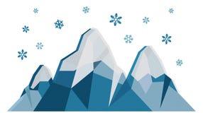 De berg van de winter stock illustratie