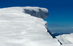 De berg van de winter stock foto's