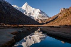 De berg van de Yangmaiyongsneeuw in Aden Stock Afbeelding