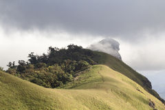 De berg van Doimon Jong, Omkoi-district Chiang Mai Thailand Royalty-vrije Stock Afbeelding