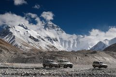 De berg van Everest Royalty-vrije Stock Foto's
