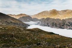 De Berg van Granparadiso het beklimmen stock afbeelding