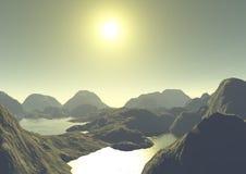 De Berg van het meer stock illustratie