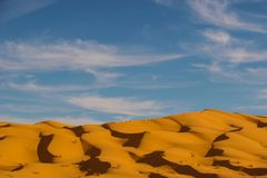 De berg van het zand Royalty-vrije Stock Afbeeldingen