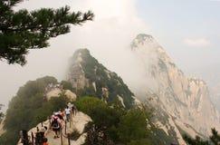 De Berg van Huashan in China stock foto's