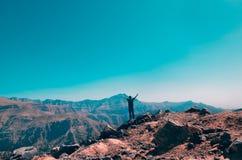 De berg van Jebeljais in Ras Al Khaimah royalty-vrije stock foto