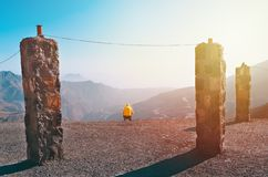 De berg van Jebeljais in Ras Al Khaimah stock foto's
