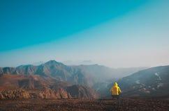De berg van Jebeljais in Ras Al Khaimah royalty-vrije stock afbeelding