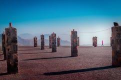 De berg van Jebeljais in Ras Al Khaimah royalty-vrije stock afbeeldingen