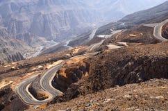 De berg van Jebeljais in Ras Al Khaimah royalty-vrije stock foto's