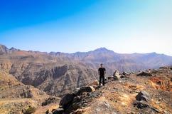 De berg van Jebeljais in Ras Al Khaimah stock fotografie