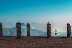 De berg van Jebeljais in Ras Al Khaimah royalty-vrije stock fotografie