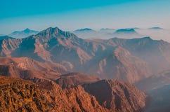 De berg van Jebeljais in Ras Al Khaimah stock afbeelding