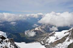 De berg van Jungfrau Stock Foto's