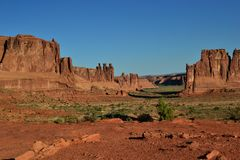 De berg van de klokrots in Sedona Arizona royalty-vrije stock afbeelding