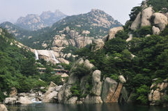De berg van Laoshan Stock Foto
