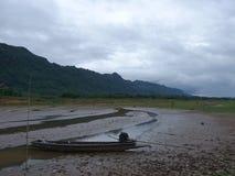 De berg van leren riempha Phum Stock Foto