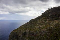 De berg van madera ` s over Atlantische Oceaan Stock Afbeeldingen