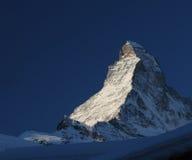 De berg van Matterhorn royalty-vrije stock foto's