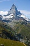 De berg van Matterhorn in Zermatt, Zwitserland Royalty-vrije Stock Fotografie