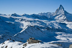 De berg van Matterhorn. Zwitserse Alpen Stock Afbeeldingen