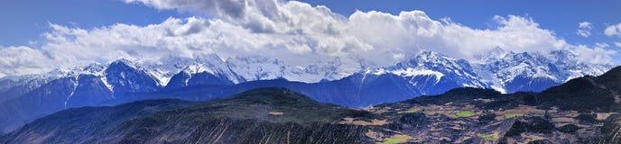 De berg van Meili toneel Royalty-vrije Stock Fotografie